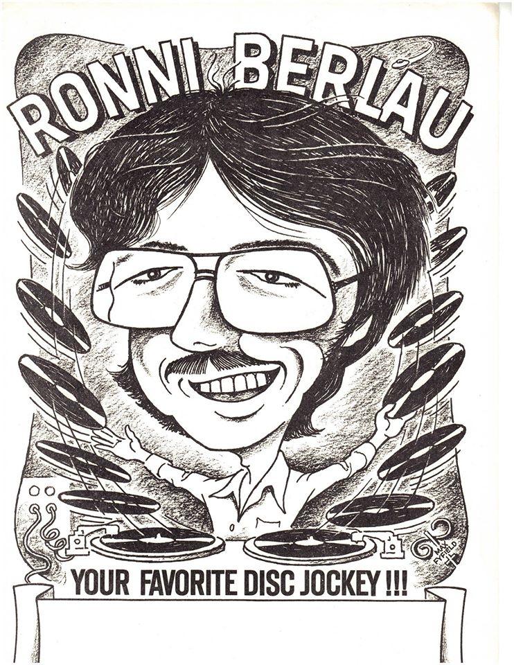 DJ Ron9 Vinyl DJ poster 1981